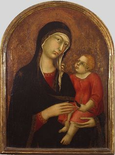 Simone Martini (c.1284-1344) — Madonna and Child, c. 1330-1340 :  Fortress of Tentennano, Castiglione D'Orcia,  Siena, Tuscany. Italy    (633x850)