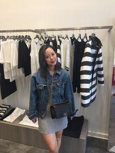 Serein Wu in Cop Copine Denim, Chic, Jackets, Ideas, Fashion, Shabby Chic, Down Jackets, Moda, Jeans