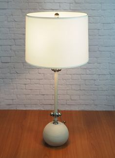 50s light green fiberglass lamp shade with gold trim vintage home
