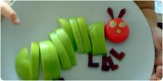 Cooking with Kids: The Very Hungry Caterpillar fruit and cheese snack project