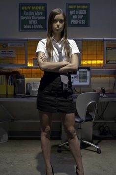 Greta #4 from Chuck.  I can't really wear heels.  Maybe some Lo top Converse Chuck Taylors. #chuck