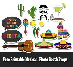 Free Printable Mexican Fiesta Photo Booth Props