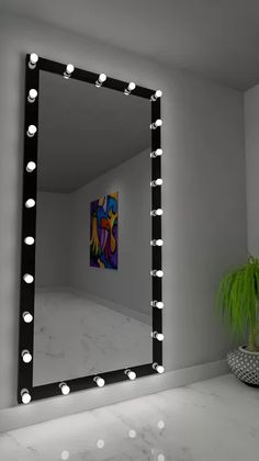 Dressing Hollywood Mirror Black 85 x 40 in Room Ideas Bedroom, Bedroom Decor, Pinterest Room Decor, Dressing Room Mirror, Makeup Room Decor, Dressing Table Design, Piece A Vivre, Mirror With Lights, Led Mirror
