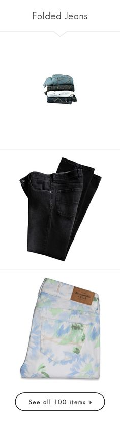 """Folded Jeans"" by missherjh ❤ liked on Polyvore featuring jeans, pants, bottoms, fillers, blue jeans, form fitting jeans, trousers, pantalones, vintage skinny jeans and short pants"