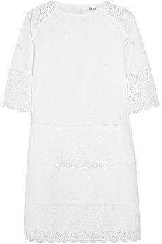 MiH Jeans The Niobi broderie anglaise cotton mini dress | NET-A-PORTER