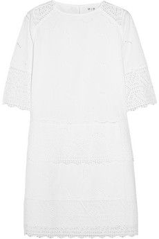 MiH Jeans The Niobi broderie anglaise cotton mini dress | NET-A-PORTER