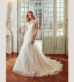 Lindos vestidos de novias   Colección Escote Ilusión