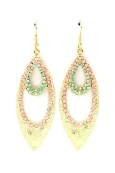 Crystal Mria Earrings on Emma Stine Limited