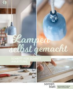 Lampen Design selbst gemacht! Mache dir aus Ton deine eigenen Hängelampen! DIY Lampen Anleitung findest du im Blog. sonnenblatt designstudio  www.blog.sonnenblatt.at #Lampen #Ton #Design #DIY