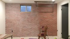 Fake Brick, Brown Brick, White Wash Brick, Faux Brick Panels, Brick Paneling, White Chalk Paint, White Paints, What Is Whitewashing, How To Make Brown