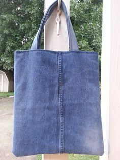 Please check out in my etsy shop: www.etsy.com/listing/202121476/upcycled-denim-tote-small-sturdy-denim Upcycled Denim Tote /  Small Sturdy Denim Book by aRecurringDream