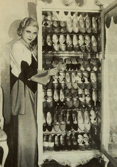 Lilyan Tashman and her shoes in Photoplay magazine.