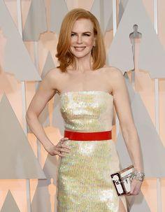 Nicole Kidman in a 16.5 carat solitaire and a Caftan platinum bracelet set with 82.14 carats of Harry Winston diamonds.