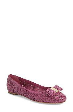 SALVATORE FERRAGAMO 'Varina' Flat (Women). #salvatoreferragamo #shoes #flats