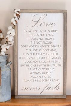 Love Is Patient Wood Sign #DIYDecor
