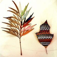 Вдохновение от природы: картины на листьях - Ярмарка Мастеров - ручная работа, handmade