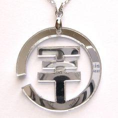 Tokio Hotel Logo Pendant Silver Tone Necklace Mirror Symbol Collar Collier | eBay