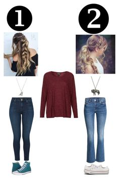 """""""Comment 1 or 2"""" by sophialarson ❤ liked on Polyvore featuring J Brand, Converse, Topshop and Estella Bartlett"""