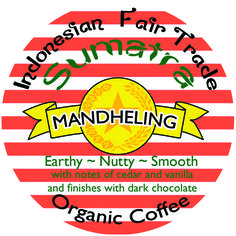 Indonesian Sumatran Mandheling coffee from sunny Java is earthy, nutty, smooth! This is a great fair trade organic coffee that never fails to impress Fair Trade Coffee, Burger King Logo, Earthy, Organic