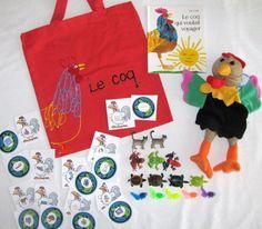 Le coq qui voulait voyager literacy bag