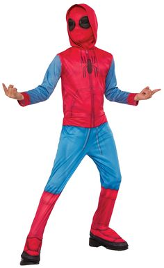 Shop now to get this spiderman homecoming boys fancy dress avengers superhero film kids boys costume. A great fancy dress option for your next costume party. Superhero Fancy Dress, Boys Fancy Dress, Halloween Fancy Dress, Halloween Costumes For Kids, Superhero Halloween, Halloween Party, Superhero And Villain Costumes, Superman Costumes, Spider Man