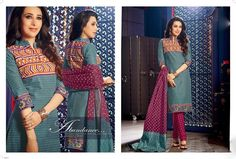 Karishma Cotton Casual unstitched Suit with Cotton Dupatta from Urban Buy