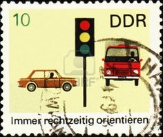 Postage stamp design — Cold War style — from East Germany