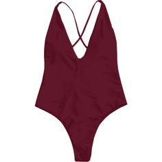 High Cut Cross Back Swimwear (50 PLN) ❤ liked on Polyvore featuring swimwear, one-piece swimsuits, criss cross back bathing suit, 1 piece bathing suits, 1 piece swimsuit, cross back swimsuit and cross back one piece swimsuit