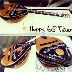 Greek bouzouki cake, all edible but the strings.. I loved creating this..xo