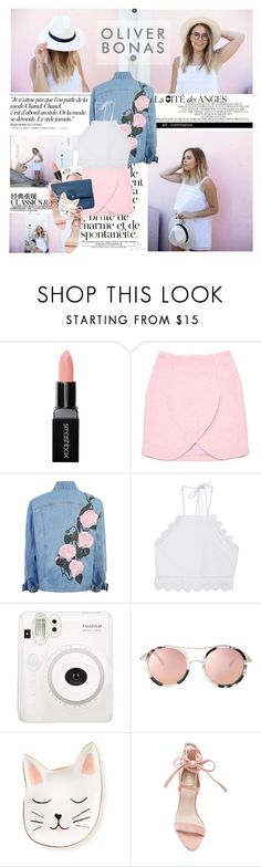 """Be patient, good things are coming your way."" by mars ❤ liked on Polyvore featuring Chanel, Smashbox, Eco Style, Carven and Front Row Shop"