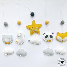 vilt decoratie baby mobiel hangers stoer