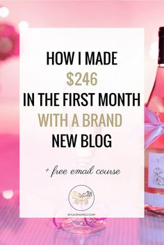Blog income report. Find out the SECRET SAUCE to launching a blog and turning a profit in the first month. If you've ever wondered how to make money blogging, read this and join her FREE email course.