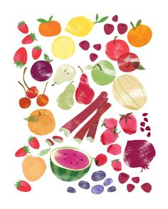 Fruits and Vegetables Prints - Set of 2 (8 x 10) — redcruiser