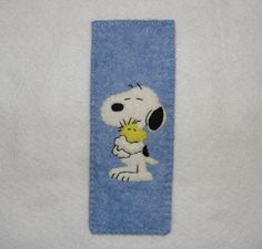 Wool Felt Snoopy Bookmark, Felt Bookmark, Snoopy Bookmark, Dog Bookmark, Birthday Gift, Handsew Bookmark by NitaFeltThings on Etsy
