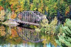 It's fall in the U.P.! The old county road 510 bridge.   Marquette, MI