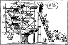 This cartoon appeared in the Print edition of The Economist on 23 March. At the time, the beleaguered Mediterranean nation was about a week into a situation which had shaken Europe in yet another financial crisis as a member state reached near bankruptcy. Thriller, Funny Images, Funny Pictures, Just For Gags, Michael Collins, The Secret World, Political Issues, Can't Stop Laughing, Political Cartoons