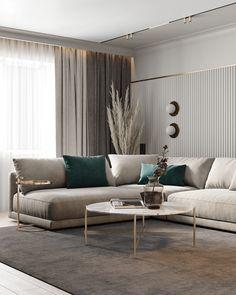 Home Design Living Room, Interior Design Living Room, Modern Living Room Decor, Living Rooms, Modern Contemporary Living Room, Modern Rugs, Behance, Luxury Furniture, Luxury Interior