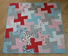 Amanda Jean said: This sweet little baby quilt was made from just one layer cake. I even had a few squares leftover, which I didn't mind a bit. :) The fabric is A Walk In the Woods, by Aneela Hoey for Moda.