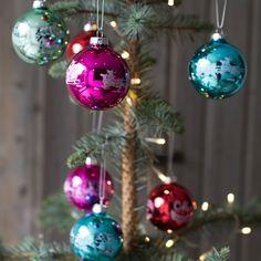 Set Of 12 Christmas Baubles | DotComGiftShop