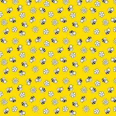 busy bees fabric by bubbledog on Spoonflower - custom fabric