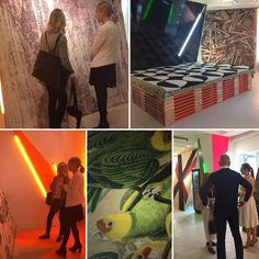 Don't miss @starkcarpet  exhibition of rugs by Rug Star designed by Jurgen Dahlmanns @starkcarpet  pop-up. You can't miss its trendy neon lights #Focus16