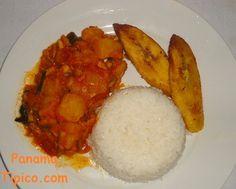 Bacalao con papas estilo paname o madres platos y patatas - Arroz blanco con bacalao ...