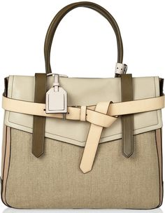 Reed Krakoff Boxer 1 leather and linen tote is a crowd pleaser, and this version is one that I can get behind. Even though linen is often used for warmer months, in this multiple colorway, it works well for winter too