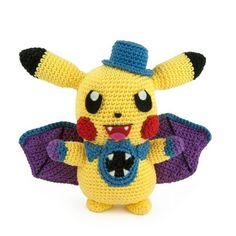 Crochet Pikachu, Pokemon Crochet Pattern, Crochet Patterns Amigurumi, Cute Crochet, Crochet For Kids, Crochet Yarn, Easy Crochet Projects, Crochet Crafts, Crochet Ideas