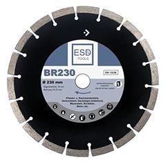 Disco diamantato 230cemento BR230tegole–Disco diamantato disco diamantato da taglio con foro 22,23mm adatto per cemento, muro pietra, Pietra composita