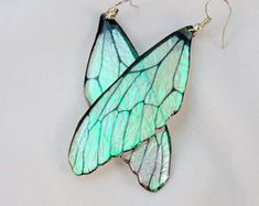 Design Your Own Faery Wing Earrings Custom Fairy by SihayaDesigns