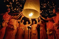 Yi Peng Festival in Chiang Mai, Thailand. Happens every 2nd lunar month of the Lanna calendar in November.