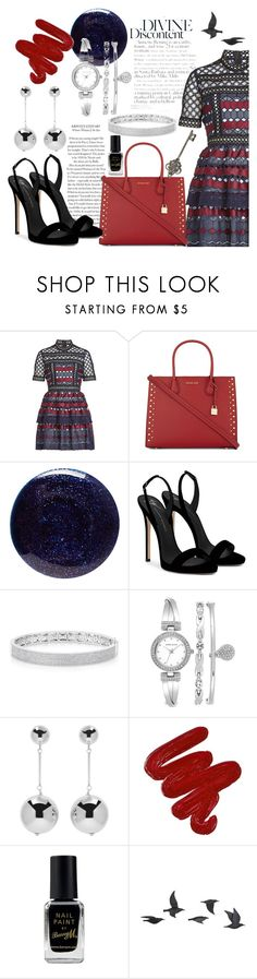 """""""Divine"""" by bleesot ❤ liked on Polyvore featuring self-portrait, MICHAEL Michael Kors, Lauren B. Beauty, Giuseppe Zanotti, Anne Sisteron, Anne Klein, J.W. Anderson, Obsessive Compulsive Cosmetics, Barry M and Jayson Home"""