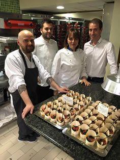 Cena Eurotoques2016. Elche  Equipo cocina Monastrell y Aitor Molina director de sala