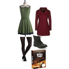 """""""The Book Thief"""" by girlynerd on Polyvore. Based on Liesel from Marcus Zusak's wonderful novel, The Book Thief, I based this outfit off of Liesel, the main character in the story."""